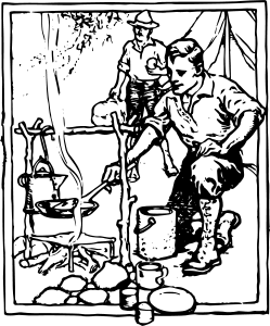 Man_Camping_Line_Drawing